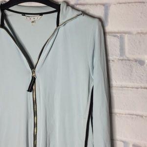 🍂 CAbi Light Blue Medium Zip Up Sweatshirt